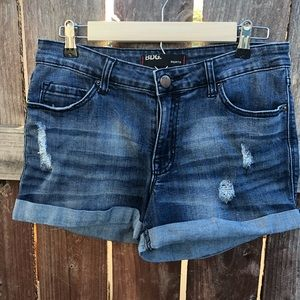 BDG shortie jean shorts distressed cuffed